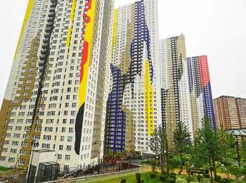 Архитектурный ансамбль символизирует единство олимпийских колец
